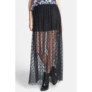Astr The Label Polka Dot Skirt